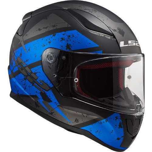 azul talla M negro y azul Casco de moto color negro LS2 FF353 RAPID DEADBOLT